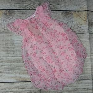 Floral baby girl romper size 6 months